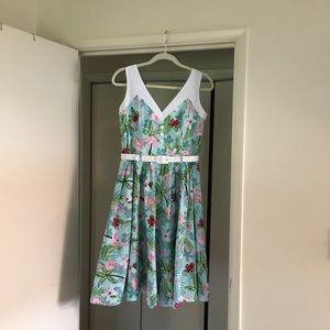 Hell Bunny Flamingo Dress